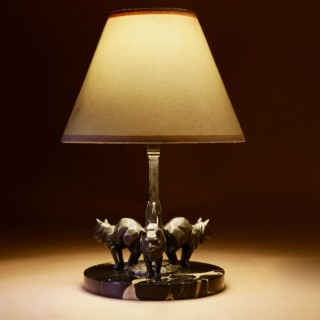 A very Stylish Art Deco Cats Table lamp, Circa 1930.
