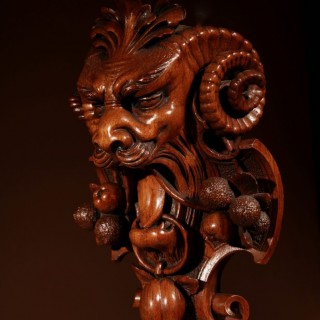 An Extremely Fine And Detailed Carving Of An Interesting Ornament.