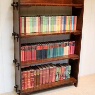 Arts And Crafts Oak Open Bookshelves
