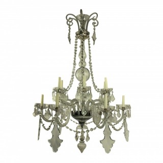A FINE FRENCH CUT GLASS CHANDELIER