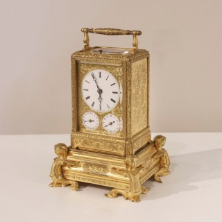 A Petit Sonnerie Carriage Clock by Grohe of Paris