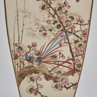 A large square form Japanese satsuma vase
