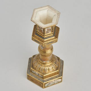 A fine miniature Japanese satsuma Toro (Lantern)