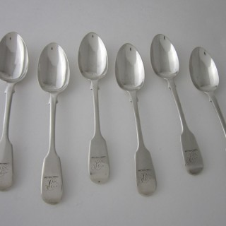 Antique William IV Sterling silver teaspoons