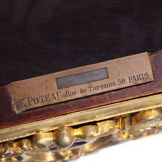 Louis XV style gilt bronze mounted writing desk by Poteau