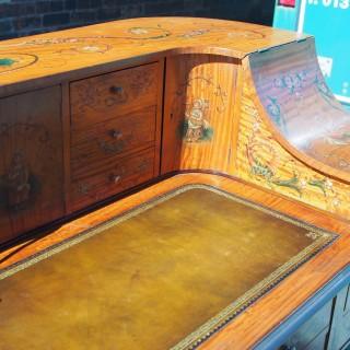 Painted Satinwood Carlton House Desk