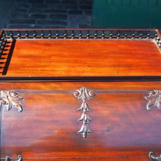 Neat Adams Style Mahogany Cylinder Desk