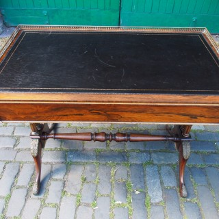 Regency Carved Rosewood Library Table