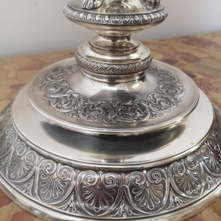19TH CENTURY DANISH ELECTROPLATED SILVER CENTREPIECE