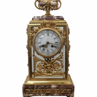 19TH CENTURY FRENCH MARBLE AND GILT BRONZE CLOCK