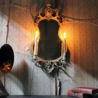 A 19thC Gilt Gesso Girandole Mirror c.1870