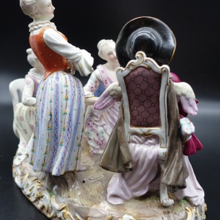 A Highly Complex Late 19th Century Meissen Group of Four Figures