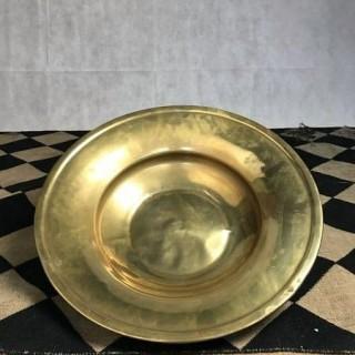 17th Century brass alms dish
