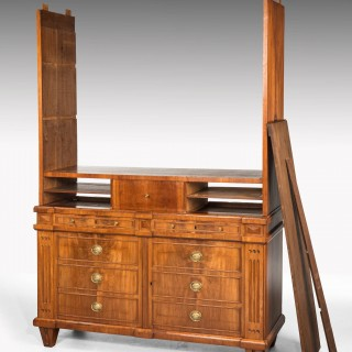 Early 19th Century Mahogany Press of Sightly Inverted Breakfront Form
