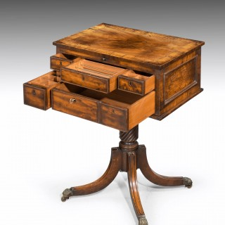 George III Mahogany Centre Standing or Writing Table