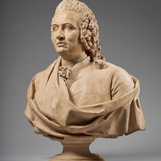 An Imposing 18th Century French Terracotta Bust of a Gentleman
