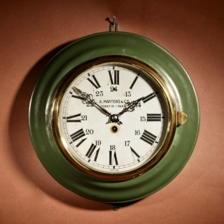 An industrial Design French Tole Wall Clock Circa: 1900-1925