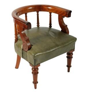 Victorian Mahogany Desk Arm Chair