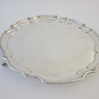 Antique George VI Sterling silver salver