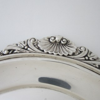 Antique Edwardian Sterling silver tray
