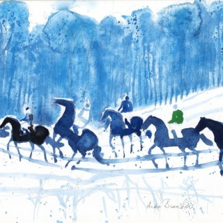 Cavalcade d'hiver by André Brasilier (b.1929)