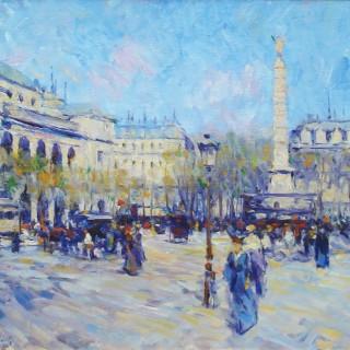 Fontaine du Palmier, Place du Chatelet, Paris by Elie Anatole Pavil (1873 – 1944)