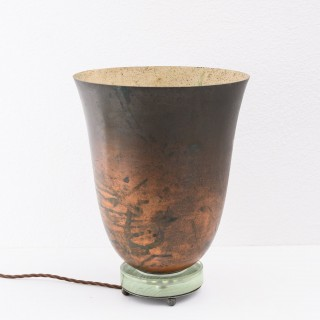 Art deco copper uplighter