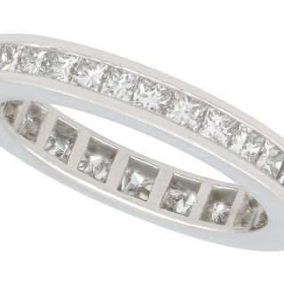 1.52ct Diamond and Platinum Full Eternity Ring - Vintage Circa 1940