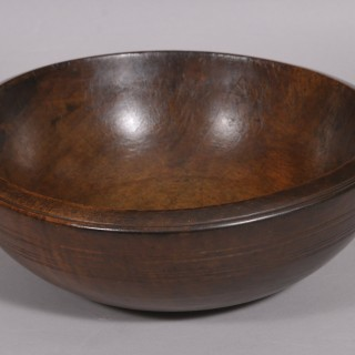 Antique Treen 19th Century Sycamore Culinary Bowl
