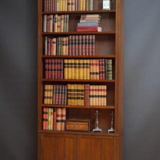 Unusual Late Victorian Open Bookcase in Walnut