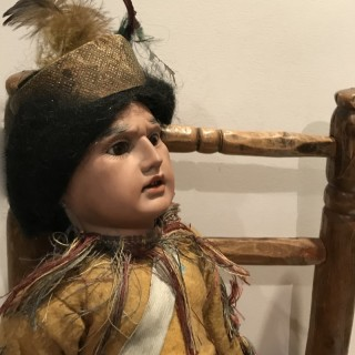 Antique Native American Indian Character Doll
