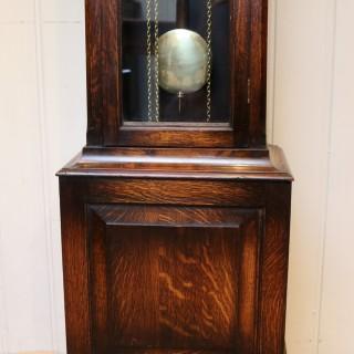 Small Oak Chiming Longcase Clock