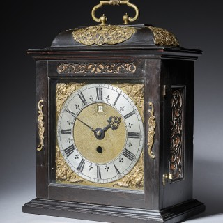 A Fine 17th Century Charles II Spring Driven Table Clock by Deodatus Threlkeld