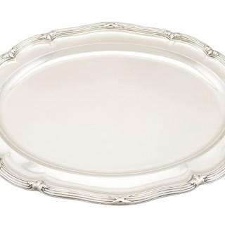 Sterling Silver Meat Platter - Antique Victorian (1839)