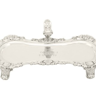 Sterling Silver Snuffer Tray by William Stroud - Antique George IV (1824) An exceptional, fine and impressive antique