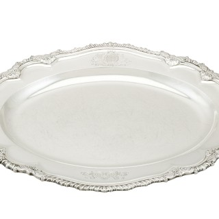 Sterling Silver Second Course Dish and Meat Platter - Antique George II (1748)