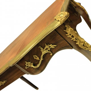 A WALNUT LOUIS XV STYLE WRITING TABLE