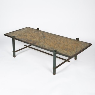 GREEN SLATE GARDEN TABLE