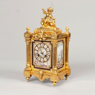 A Table Clock in the Louis XVI Manner By Japy Frères