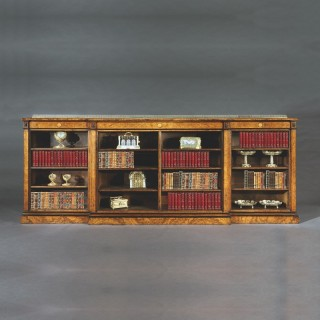 A Substantial Walnut Library Bookcase