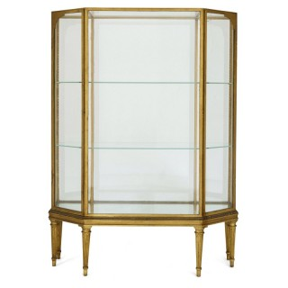 Early 20th Century French giltwood display cabinet