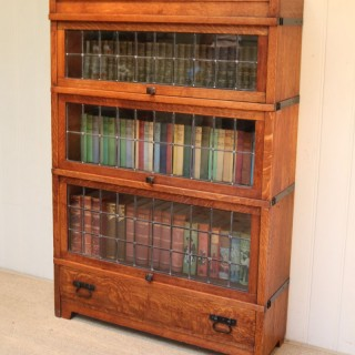Arts And Crafts oak Sectional Bookcase