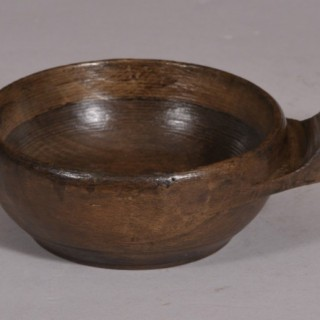 Antique Treen 18th Century Beech Wine Taster