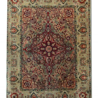 Antique Agra Carpet, India 132x174cm