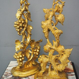 Pair of George III Carved Grape Stands