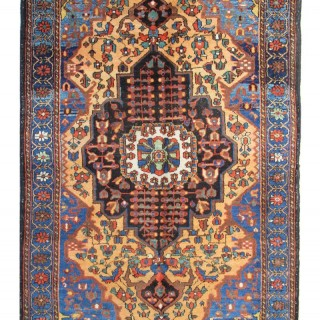 Antique Silk Kashan Rug, Persian 113x193cm