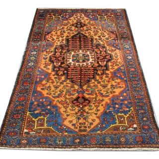 Antique Silk Kashan Rug, Persian 113x193cm