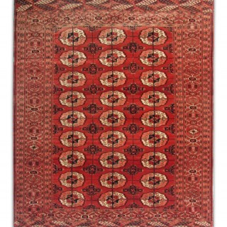 Antique Bukhara Rug 123x143