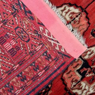 Antique Bukhara Rug 123x143