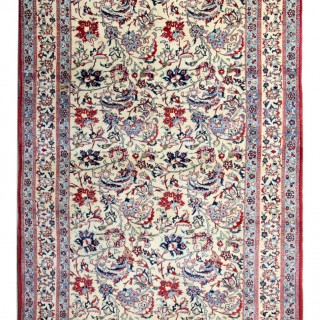 Antique Persian Qum Carpet 144x128cm